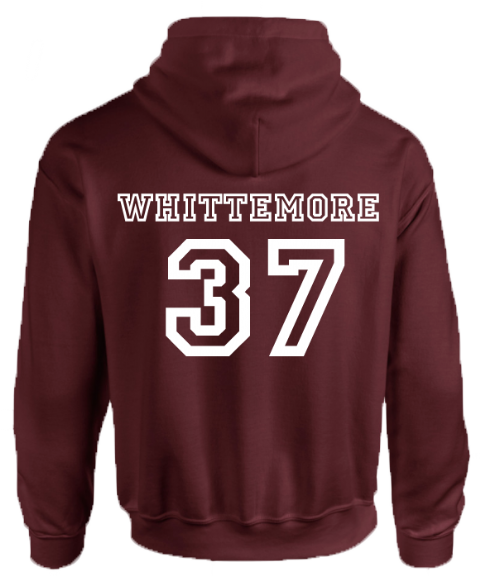 BEACON HILLS LACROSSE ON FRONT WHITTEMORE ON BACK HOODIE - INSPIRED BY TEEN WOLF